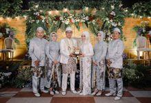 Kebaya Akad Nikah Rara & Ilham by LAKSMI - Kebaya Muslimah & Islamic Bride