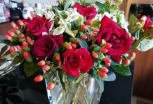 Red White & Pink by Dorcas Floral