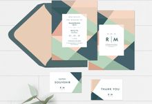 Modern Invitation For Ramadhana & Meilita by Pentone Craft and Paper
