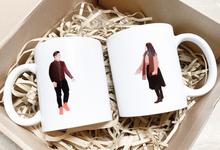Couple Mugs  by medwidlove