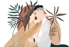 Couple Illustration in Acrylic A5 by medwidlove