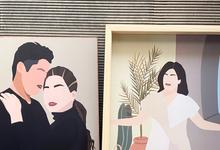 Custom Portrait for wall decor by medwidlove