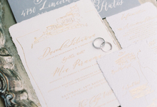 David and Mia Wedding Invitation Suite by Meilifluous Calligraphy & Design