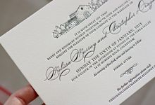 Bespoke Letterpress - Melissa and Christopher by Bespoke Letterpress
