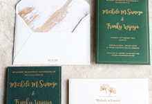 "The Wedding of ""Michelle & Franky"" by Memoir Paperie"