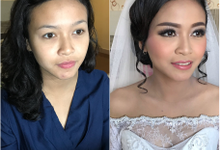 Wedding makeup by Merlin whatsapp +62 85704191872 by Merlin Makeup Artist
