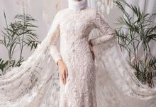 Laksmi New Collection Photoshoot White & Ivory Dress Annisa Photoshoot by LAKSMI - Kebaya Muslimah & Islamic Bride