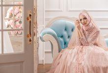 Romantic Love Series Wedding Gown Photoshoot by LAKSMI - Kebaya Muslimah & Islamic Bride