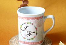 Mug Nescafe Mini I & F by Mug-App Wedding Souvenir