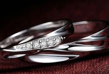 TIARIA Milky Way Diamond Wedding Ring Cincin Nikah Berlian by TIARIA