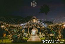 Green Royal Wedding Decoration by Bali Wedding Service