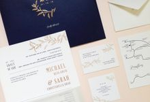 Michael & Sarah by Gracia The Invitation