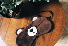 Teddy Bear Eye Cover Custom Souvenir by Molusca Project