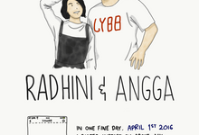 5 Frames - The Wedding of Radhini & Angga by Illustation