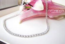 Full Eternity Diamond Necklace by Fiftyseven Diamond Jewellery