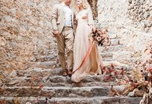 Stella & Baptiste romantic elopement at Monemvasia Castle in Greece by Annelie Photography
