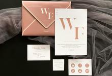 From the wedding of Winona & Faza by Moria Invitation