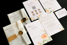 From the wedding of Adrienne & Hendra by Moria Invitation