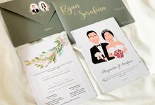 From the wedding of Ryan & Serfafina by Moria Invitation