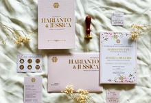 Harianto & Jessica's wedding invitation by Moria Invitation