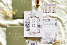 Samisara & dhanny's wedding invitation by Moria Invitation