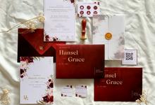 Hansel & Grace's Wedding Invitation by Moria Invitation