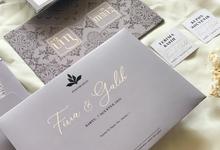 Firra & Galih's Wedding invitation by Moria Invitation