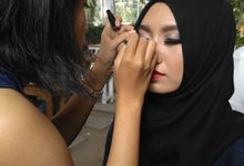 Behind The Scene Make up pra-wedding Erlin&Maulvi by MUA SAF