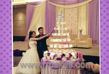 Cupcake tower wedding cake by RR CAKES