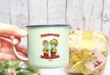 Wedding Of Sattvika & Saddhwi - Mug Enamel by Greenbelle Souvenir