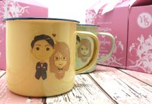 Limited stock decal enamel mug include packaging by Fine Souvenir