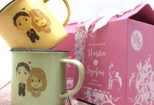 Enamel Mug Include Personalised Paperbag+Printing by Fine Souvenir