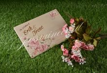 Hardcover 3 Folded (Click For Samples) by Jasmine Invitation Card