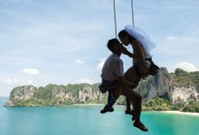 Krabi Prewedding Shoot with Rock Climbing by The Curious Light Photography