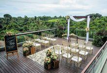 Wedding at Naga Rooftop Bar & Lounge by Sthala, A Tribute Portfolio Ubud Bali by Marriott International
