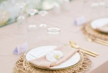 Blushing  Colors Wedding Dinner by Bali Izatta Wedding Planner & Wedding Florist Decorator