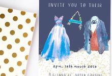 Dreamy watercolours by She.Fox Invitations