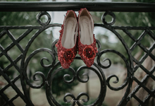 Maroon heels , Ms. Anestesya Engagement  by N'Claire