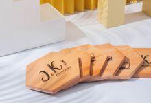 Engraved Coasters for Jonathan & Karin Wedding by Dekornata