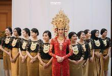 WEDDING OF NINA & AUGY by Menara Mandiri (Ex. Plaza Bapindo) by IKK Wedding