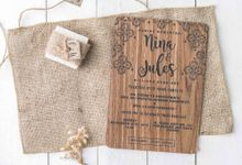 Wedding Invitation - Wood by Kanoo Paper & Gift