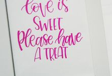 Wedding Signage by La Vie Calligraphy