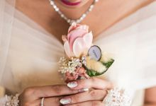 Elegant French & Swarovski Nail - Eldy Jessica Wed by Nail It Up!