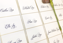 Customized Place Cards by Oats DIY