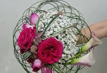 Pink Art Collection Bridal Bouquet by Amaryllis Floral Art