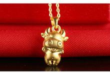 Tiaria Zodiac Ox Gold Pendant Perhiasan Liontin Emas by TIARIA