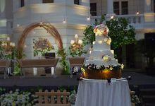 Five tiers Wedding Cake by breadseason