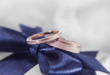 Fecile wedding rings by Reine