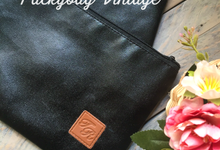 TYA WEDDING // BLACK CORDURA with Emboss  by Packy Bag Vintage