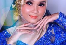 Muslimah Wedding Make Up . Ms. Arum by Pangestwury MakeOver